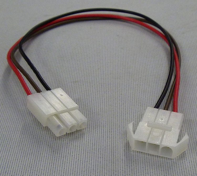 Molex Style 3-Pin Locking Connector w/18 AWG Wire