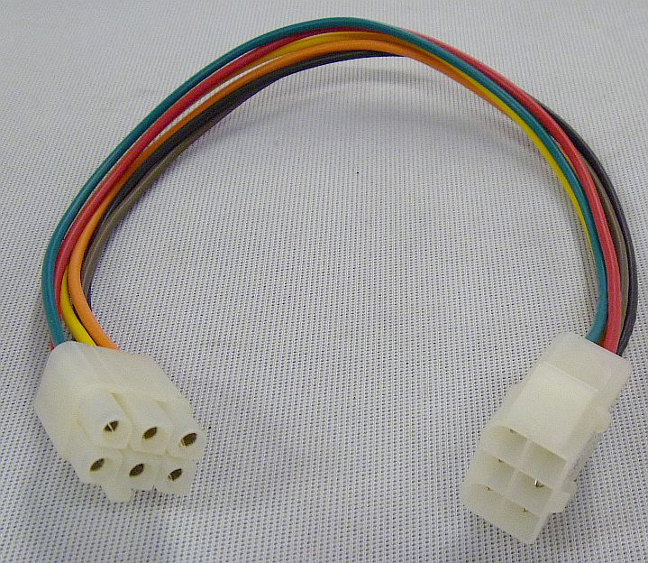 Molex Style 6-Pin Locking Connector w/18 AWG Wire