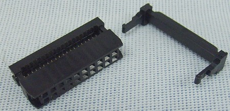 20 Pin 2x10 Ribbon Cable Connector W Strain Relief