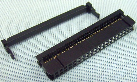 40 Pin 2x20 Ribbon Cable Connector W Strain Relief