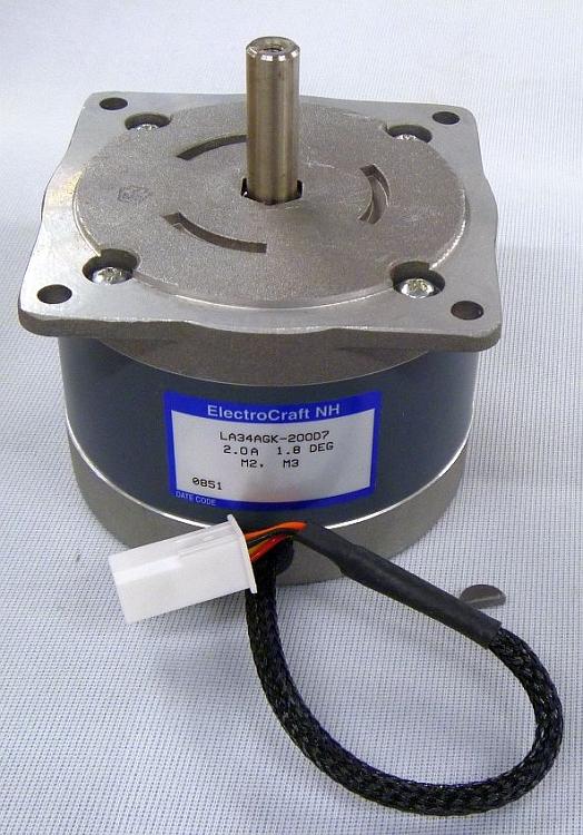 Electrocraft nh ead nema 34 stepper motor la34agk 200d7 for Electro craft servo motor specifications