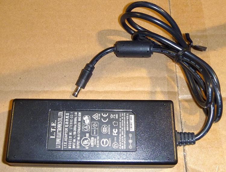 lacie 800052 lte li tone electronics lte90e s2 1 ac adapter power supply 12v dc. Black Bedroom Furniture Sets. Home Design Ideas