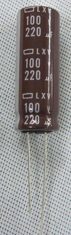 220uf 100v Electrolytic Radial Capacitor