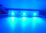 Blue 3-LED Waterproof LED Strip 12v DC