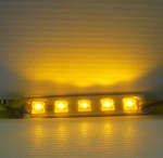 Yellow 5-LED Waterproof Strip 12v DC 60mA