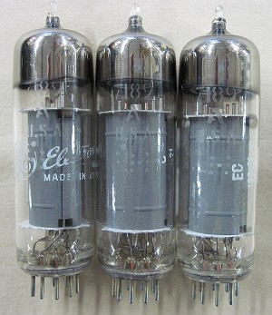 GE 7189A Vacuum Pentode Tube Lot of 3 Tested Tubes