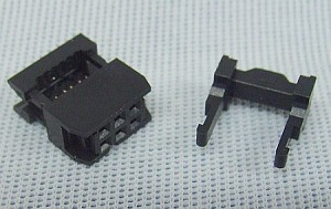 6-Pin (2x3) Ribbon Cable Connector w/Strain Relief