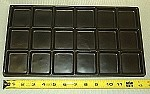 Black Plastic Tray With 18 Bins