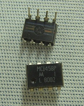 MC1458P Dual General Purpose Op Amp (741 Compatible)
