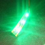 3-LED Strip Pure Green 525nm, 2400 mcd 12v DC 90mA
