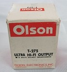 Olson Ultra HiFi Output Transformer Model T-275