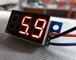 Panel Meter Voltmeter 0~100v DC Seven Segment Red LED