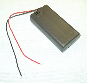 2-AA Battery Holder with On / Off Switch & Cover
