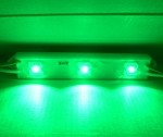 Green 3-LED Waterproof LED Strip 12v DC