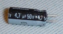 Radial Electrolytic Capacitor 4.7uf 50v 85°C