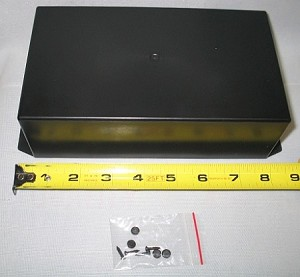 "Plastic Project Box w/Mounting Flange 8.85"" x 4.44"" x 2.48"""