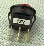Mini Illuminated Rocker Switch 12v DC