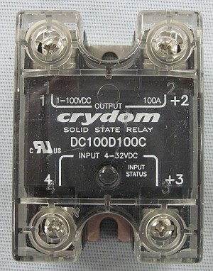 Crydom Model DC100D100C Solid State Relay w/Cover