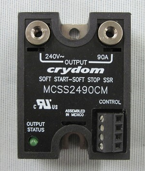 Crydom Model MCSS2490CM Microprocessor Based Soft Start/Stop 90 Amp Relay