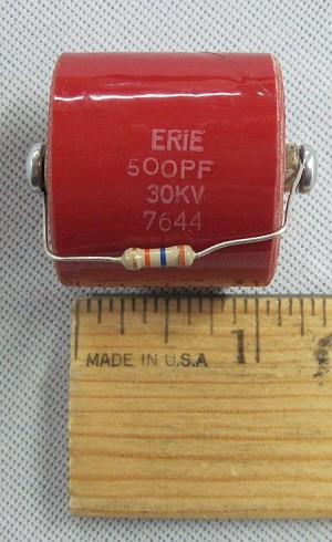 ERIE 7644 Molded Ultra High Voltage Ceramic Capacitor 500pf 30kV