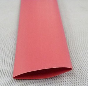 Heat Shrink Tubing: 4ft long, 1 in. Diameter, Red