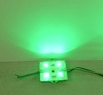 Green 4-LED Waterproof Module w/Steel back 12v DC