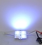 White 4-LED Waterproof Module w/Steel back 12v DC
