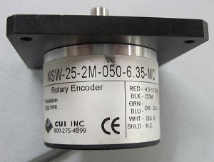 CUI Inc. Rotary Incremental Encoder Model NSW-25-2M-050-6.35-MC