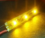 3-LED Strip Amber (Yellow) 589nm, 1125v mcd 12v DC 90mA