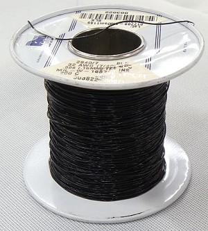 32 AWG (7/40) TFE Insulation Wire Black(Approx. 450 Feet)