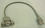 USB 2.0 14 Inch Panel Mount Extension Cable A Male to A Female