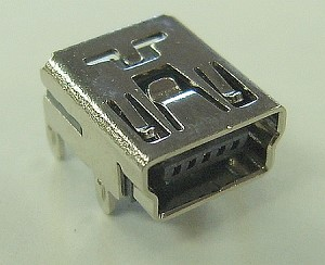 USB Mini 5-Pin PCB Mount Connector